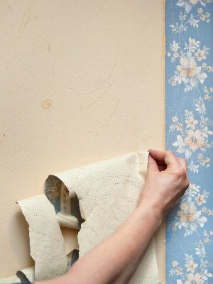 Wallpaper removal by RMS Painting Inc.