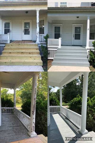 Before & After Exterior Porch Painting in Bloomington, IL (1)